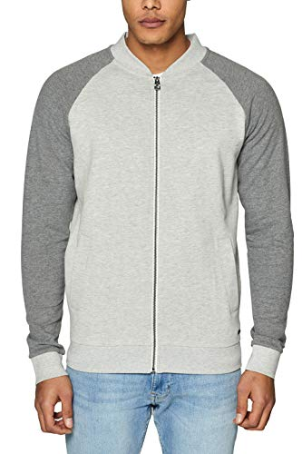 edc by ESPRIT Herren 029CC2J013 Sweatshirt, Grau (Light Grey 040), Large (Herstellergröße: L)