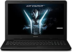 Medion Erazer P6661 39,6 cm (15,6 Zoll) Notebook mit mattem Full-HD Display (Intel Core i7 6500U, 8GB RAM, 512GB SSD, NVIDIA GF GTX950M, DVD RW, 9,5 mm, Win 10 Home) schwarz