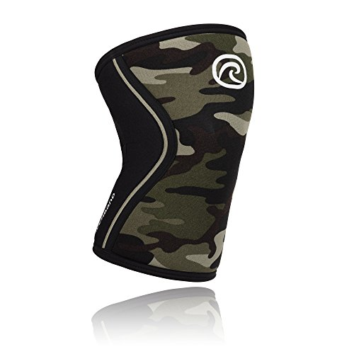 Rehband Rx Knee Support 7mm Neopren Bandage, Camoflage, M (35-37 cm Umfang)