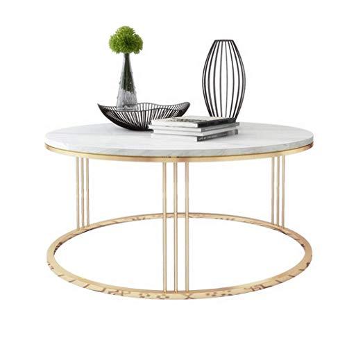 Runder Couchtisch Marmor Tischplatte Beistelltisch Wohnzimmer Sofa Beistelltisch Kreis Wohnmöbel Esszimmer/Kaffee/Snack/Lesetisch