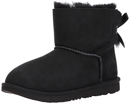 UGG® - Kid´s Mini Bailey Bow II - Kinderstifefel, Lammfellstiefel, Stiefelette 1017397, Schwarz (Black), US 03 / EUR 33 (Ugg Lammfell Care Kit)