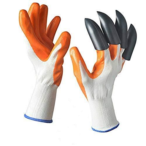 Flamingo Kinder Gartenhandschuhe mit Klauen 4 ABS Kunststoff Gartenhandschuhe