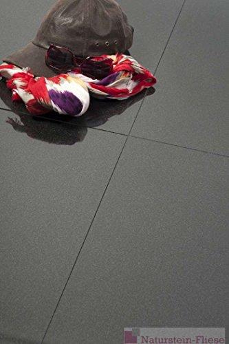 Granitfliesen Nero Assoluto (Absolute Black) Musterplatte 30x30x1 cm; Fliesen in Premiumqualität ab 35,90 € qm von Naturstein-Fliese