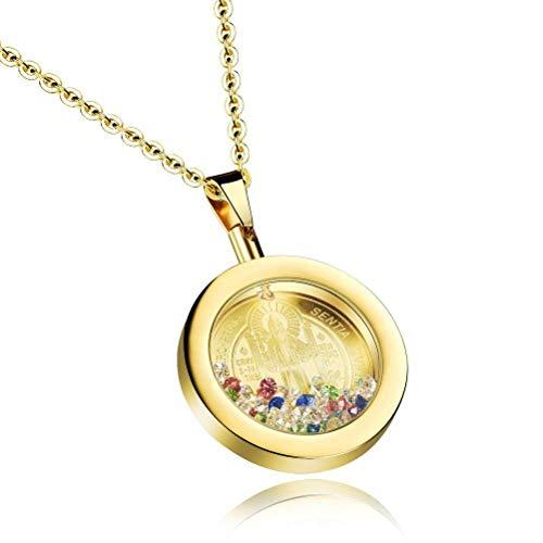 MingXinJia Religiöse Schmuck Farbe Diamant Flasche Dekorative Halskette Kurzen Kristall Anhänger Zubehör Anhänger Weibliche, Gold