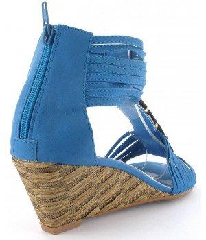 Top or - Sandales femme bleu - ES92-7 Bleu