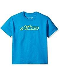 Alpinestar Kids Blaze tee Camiseta de Manga Corta con Logo de Corte Moderno, Niños,