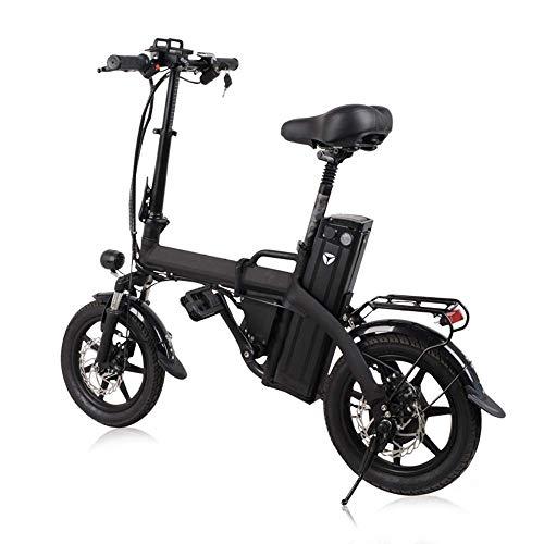 AA-folding electric bicycle ZDDOZXC Faltbarer E-Roller Zwei Räder elektrisches Fahrrad 14 Zoll 48V 300W 80KM Mini bewegliche faltende elektrische Fahrrad-Erwachsene