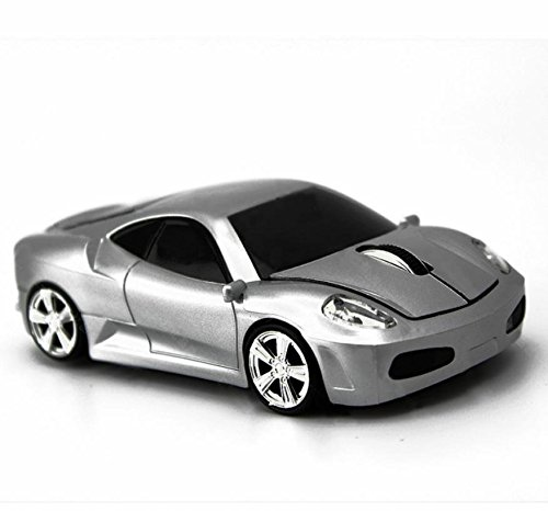 Ferrari Maus Wireless Mouse Spiele Auto Maus Silber silber