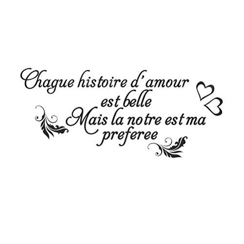 Vosarea Français Stickers Muraux Amovibles Stickers Mural Citations Prononcés Mots Art Décor