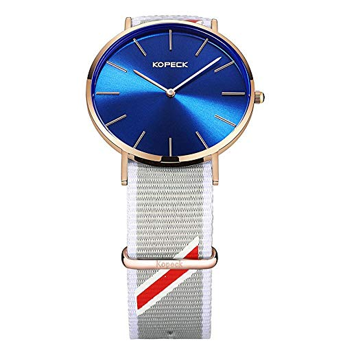 north king quartz watches date display women's wrist watch set of three pieces big white dial cloth band for girlfriend