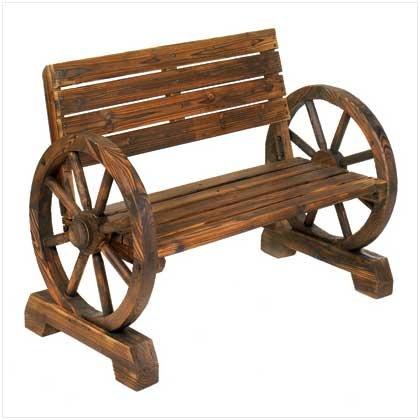The Knick Knack Shelf Wagon Rad Bench - Feeder Wagon