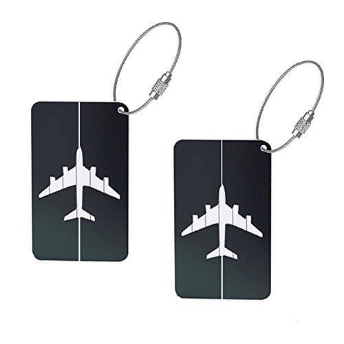 Oyfel Kofferanhänger Aluminium Gepäckanhänger Gepäckgepäcklizenzierung Flugzeug Gepäckanhänger