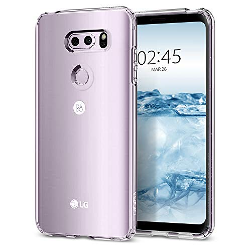 Spigen [Liquid Crystal LG V30 / LG V30 Plus/LG V30S ThinQ Hülle (A25CS21981) Transparent TPU Silikon Handyhülle Kratzfest Durchsichtige Schutzhülle Flex Case (Crystal Clear)