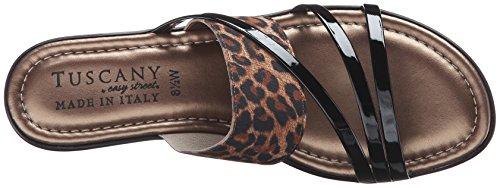 Easy Street Atessa Femmes Large Toile Sandale Leopard-Black