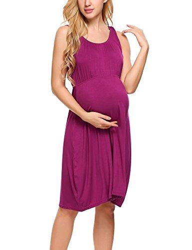 HOTOUCH Damen Umstandskleid Brautkleid Mutterschafts KleidUmstands Schwangerschafts Kleid Armellos...