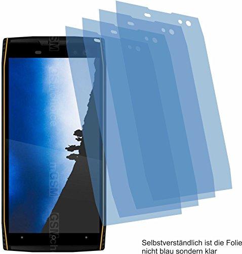 4ProTec 4X Crystal Clear klar Schutzfolie für Doogee S50 Displayschutzfolie Bildschirmschutzfolie Schutzhülle Displayschutz Displayfolie Folie