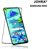 Johra® 11D (Full Adhesive Glue) Edge to Edge Tempered Glass Screen Protector for Samsung Galaxy M40 - Black