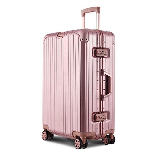 Valigia Imbarco sul telaio Valigia bagaglio, Valigia con telaio in alluminio 20 pollici 35 * 25 * 51 cm Oro rosa