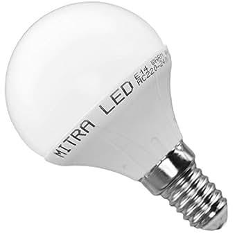 Ampoule LED E14 G50 5 Watt Equivalence incandescence 45 Watt Flux lumineux 400 Lumen mini globe