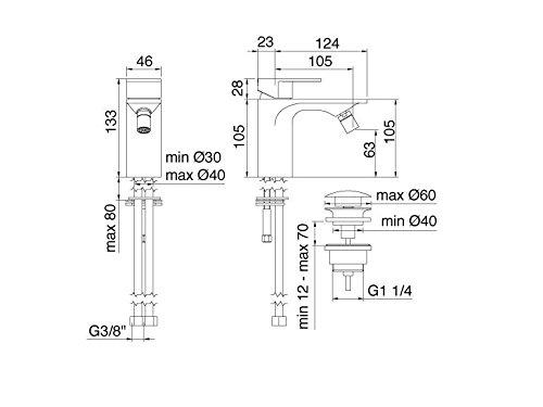 Treemme Ran Wasserhahn Mischbatterie für bidet-Unterstützung Art 2220