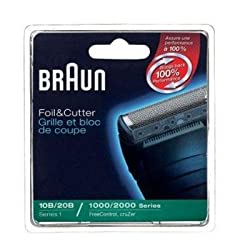 Braun Replacement Foil and Block, 1000 2000 For Free Control and Cruzer Shavers (Packaging may vary)