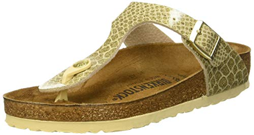 BIRKENSTOCK Damen Gizeh Zehentrenner Magic Snake Gold, 39 EU