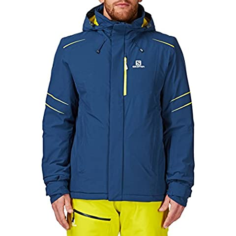 Salomon tormenta de nieve chaqueta - medianoche M azul