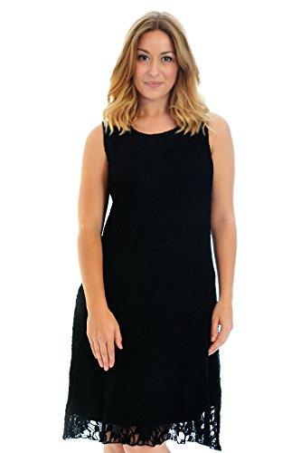 Flapper Lace Lined Dress Black (Flapper Fashion Kleid Plus Schwarz)