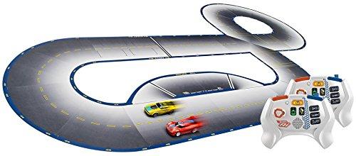 ferngesteuerte hot wheels Hot Wheels FDY09 Ai Starter Kit 2.0 Street Racing, Auto Rennbahn Set mit 2 Smart Cars, 2 Controller und 22 Trackteile, ab 8 Jahren