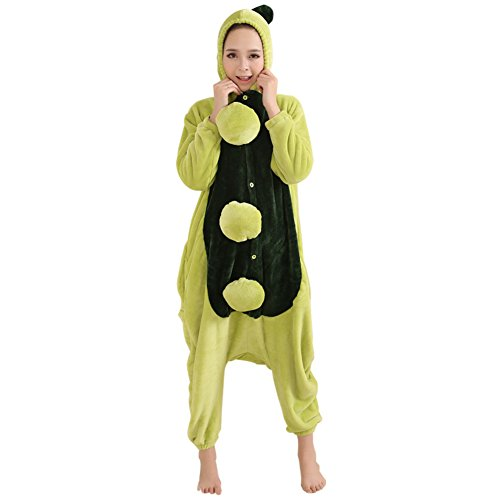 Halloween Kostüm Gruppe Ideen Gute (Honeystore Unisex Erwachsene Pyjamas Jumpsuit Flannel Party Kostüm Erbse Strampler Siamesische Kleidung)