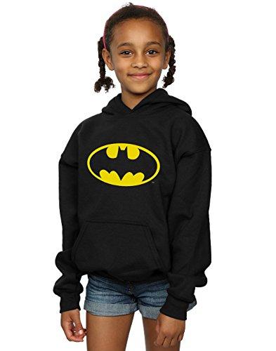 DC Comics Mädchen Batman Logo Kapuzenpullover 12-13 years (Gir Hoodie)