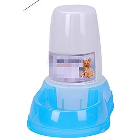Fontana di acqua potabile domestico automatico automatico plastica sporca verde attivisti guarnizione antiscivolo rimovibile automatico gatto e cane alimentatore 1.5L3.5L , blue , feeder 3.5l