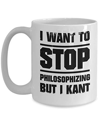 Mike21Browne Philosoph Kaffeetasse Philosophie Student Philo Teacher Mug Philosophie Grad College Gag Geschenk Kant Philosophie