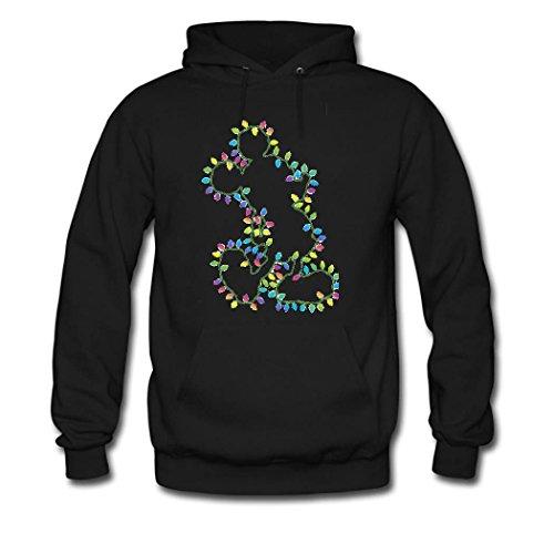 HGLee Printed Personalized Custom Bulb Art Women's Hoodie Hooded Sweatshirt Black