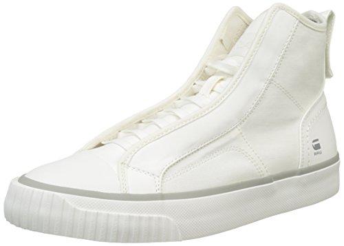 G-STAR RAW Scuba, Scarpe da Ginnastica Alte Uomo Bianco (White 110)