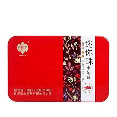 Authentique Chine Yunnan Pu-Erh Mûr Thé Cake Mini Série Portable Compressé Pu'er Tuocha?2.5 grammes x 12?