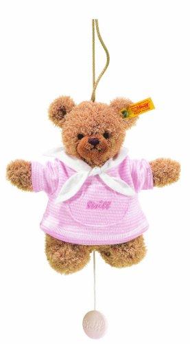 Steiff 237126 - Schlaf Gut Bär Spieluhr 20 cm, rosa