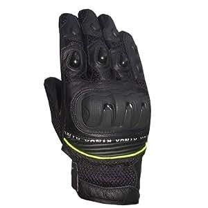 RYNOX Shield Pro Gloves (Color Black+Florescent) (Size Small)