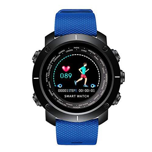 GAOXP Mode-Farbbildschirm Smart Sports Watch herzfrequenzüberwachung Schritt gegen Sport Bluetooth-Kamera Schlafüberwachung Mahnung Armband Bluetooth,Blue