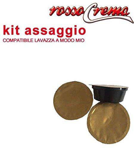 Kit assaggio rossocrema lavazza a modo mio capsule cialde compatibili (confezione vari gusti)