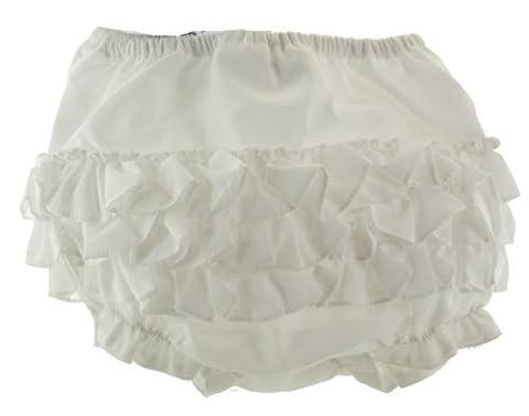 Baby Girls White Ruffle Panties Bloomers Diaper Cover Sarah Louise Cotton