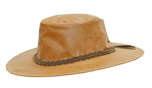 Traveller sombrero de piel Fitzroy por Kakadu Australia Marrón Whiskey X-Large