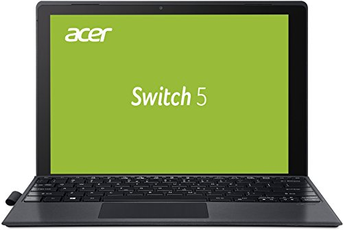 Acer Switch 5 (SW512-52-5819) 30,5 cm (12 Zoll) Convertible Notebook (Intel Core i5-7200U, 8GB RAM, 256GB SSD, Win 10 Home) schwarz