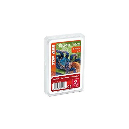 ASS Altenburger 22571996 - Top Ass Giftige Tiere, Kartenspiel - Trumpf und Quartett
