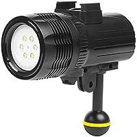 Luz de buceo de alta potencia regulable a prueba de agua Luz de video LED Relleno Luz de noche Luz submarina Luz de la fotografía Luz de búsqueda al aire libre