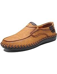 40e9aea2b19 Sneerrt Calzado Casual para Hombres Calzado Mocasines de Cuero Mocasines  Transpirables Suaves Hechos a Mano Zapatos