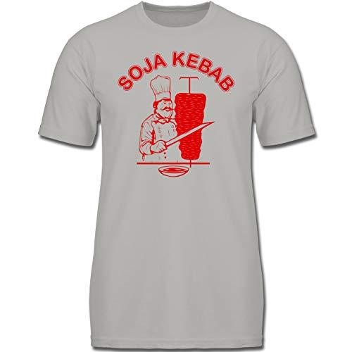 Narr Kostüm Und Schwarz Kinder Lila - Karneval & Fasching Kinder - Soja Kebab Logo Vegan Vegetarisch - 104 (3-4 Jahre) - Hellgrau - F130K - Jungen Kinder T-Shirt