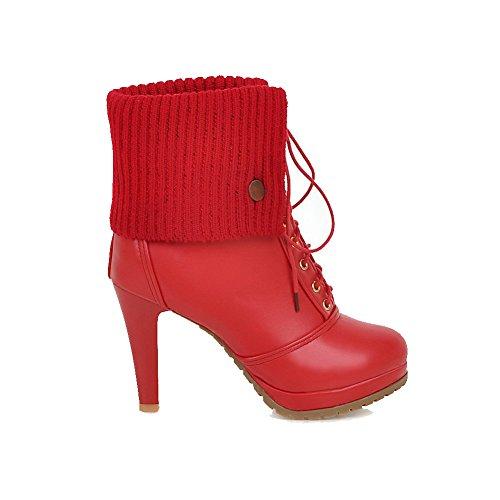 Puro Donna VogueZone009 Bassa Rosso Altezza Tacco Alto Stivali Luccichio  8mn0wvN 5c2387bf201