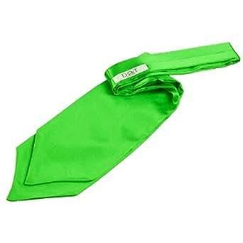 New DQT Plain Men's Self-Tie Cravat (Apple Green)