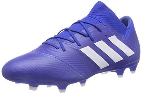 adidas Herren Nemeziz 18.2 Fg Fußballschuhe, Blau Ftwbla/Fooblu 001, 43 1/3 EU - Inspiriert Flachen Schuh